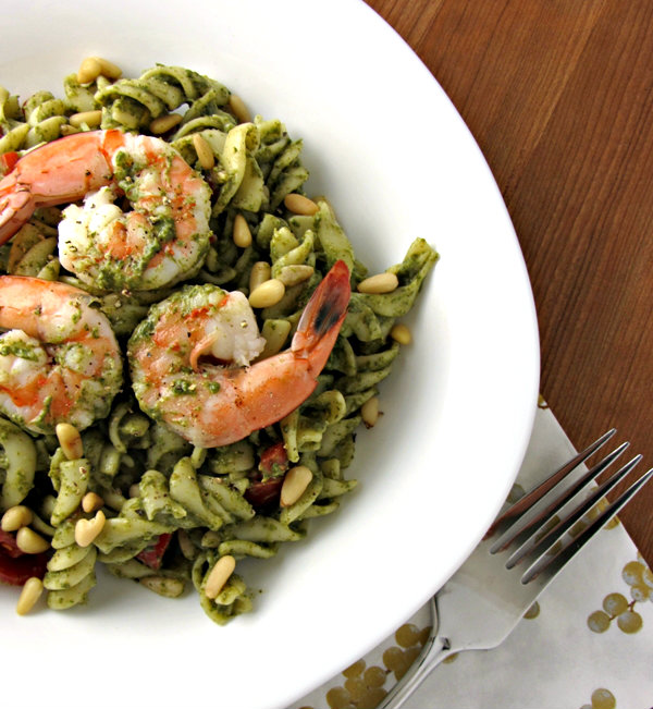 Spinach Shrimp & Mascarpone Pasta Salad - Plated 2.1
