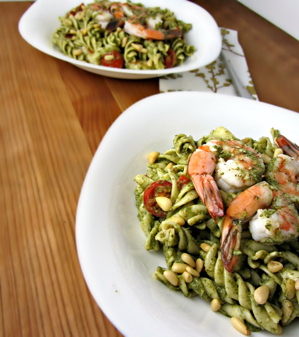 Spinach Shrimp & Mascarpone Pasta Salad - Served 2.1