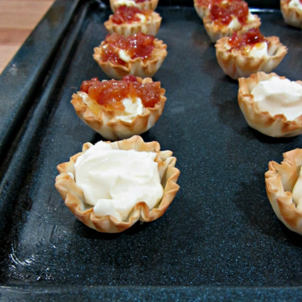 Baked Brie and Bacon Jam Phyllo Cups - Before Oven 2.2