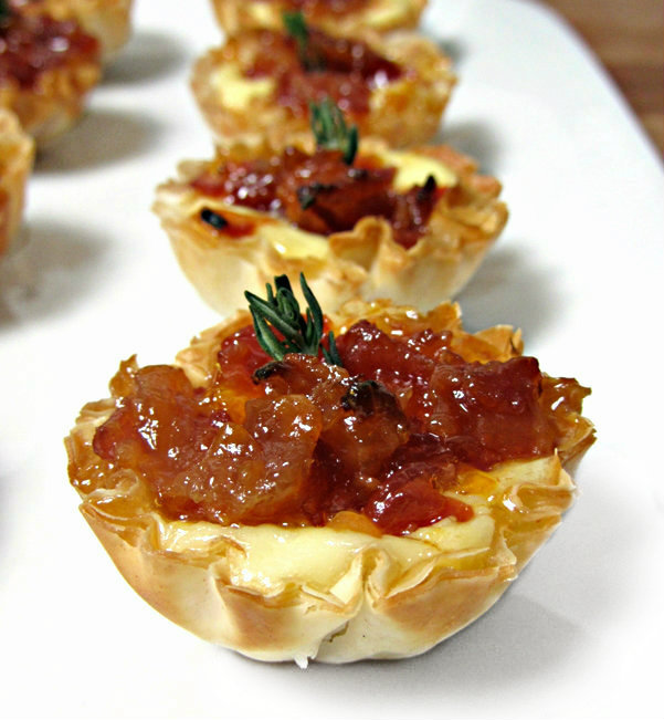 Baked Brie and Bacon Jam Phyllo Cups - Zoom 4
