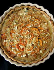 Scalloped Sweet Potato Pie - Overhead 3