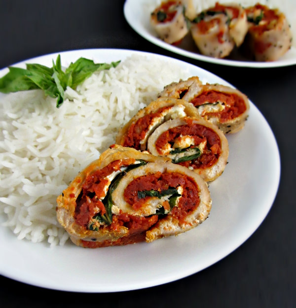 Sundried Tomato and Ricotta Chicken Roulade 1