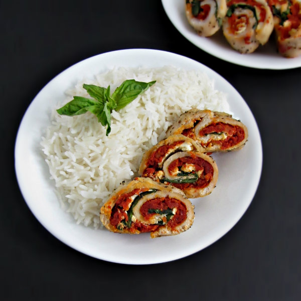Sundried Tomato and Ricotta Chicken Roulade 3