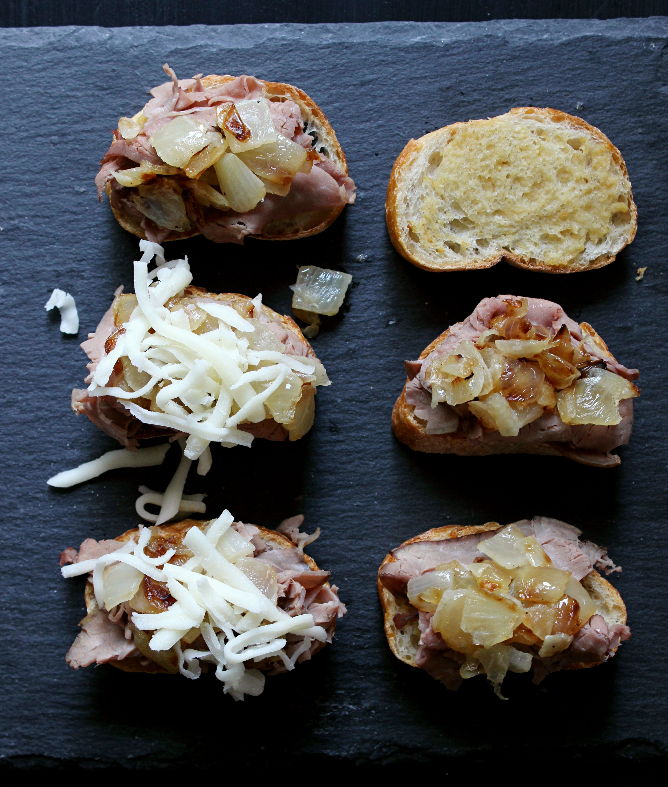 Easy Philly Cheesesteak Crostini