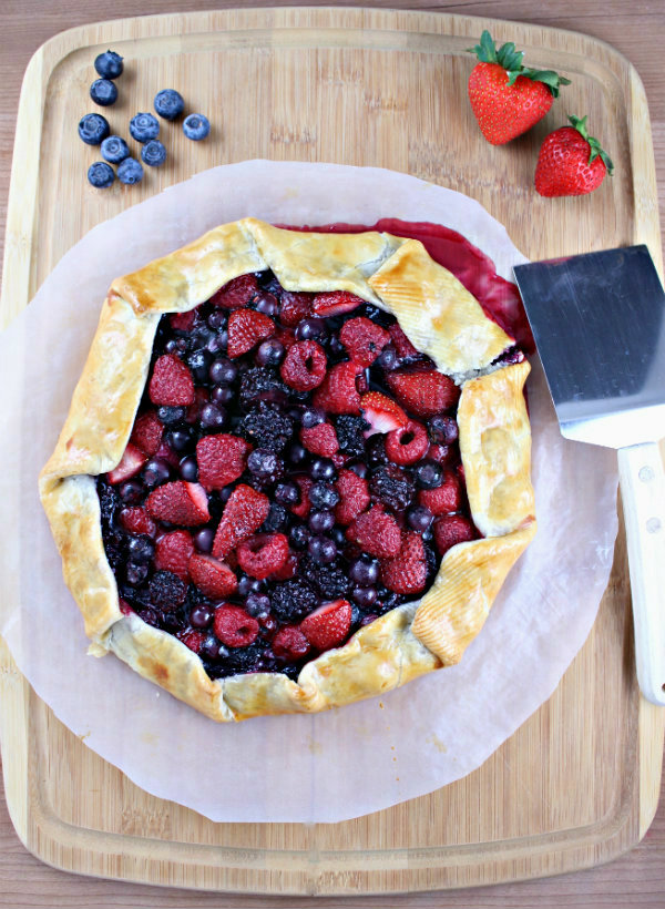 Rum Infused Mixed Berry Galette - Wry Toast