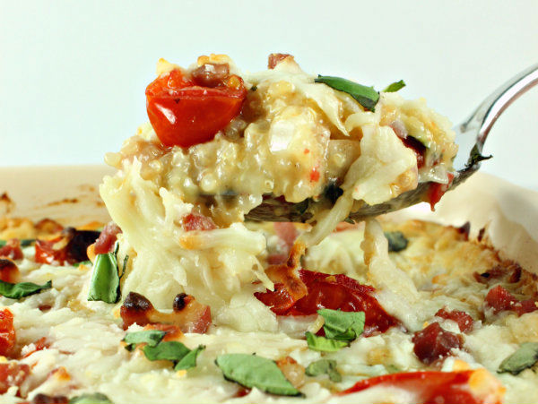 Creamy Provolone Baked Quinoa with Roasted Cherry Tomatoes ...