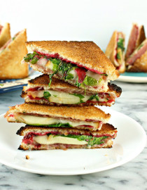 Mini Cranberry, Prosciutto, and Smoked Mozzarella Toasties