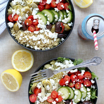 Dinner for Two: Loaded Greek-Style Quinoa Bowls w/ Chunky Feta & Spicy ...