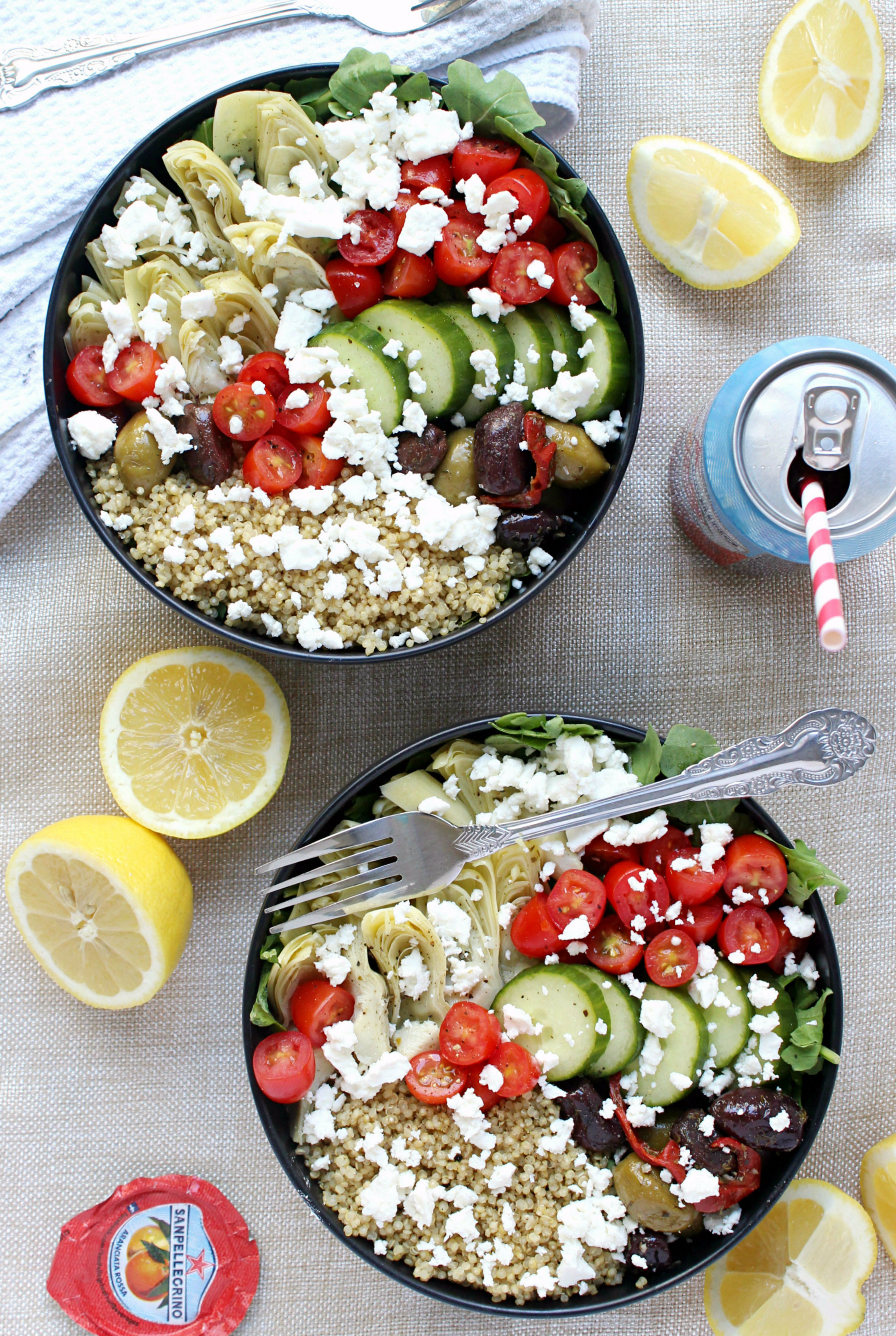 Dinner for Two: Loaded Greek-Style Quinoa Bowls w/ Chunky ...