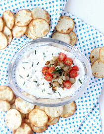15-Minute Caramelized Onion Dip w/ Greek Yogurt
