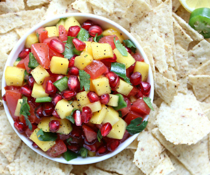 Ridiculously Easy Pomegranate Mango Salsa