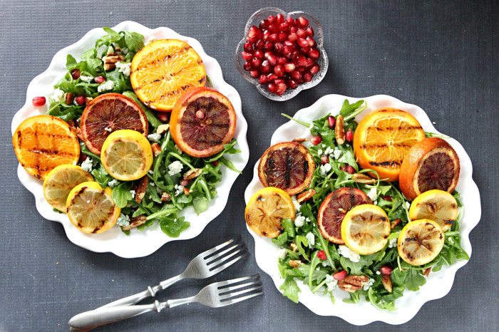 Grilled Super Citrus Summer Salad with Sweet & Tangy Lemon Vinaigrette