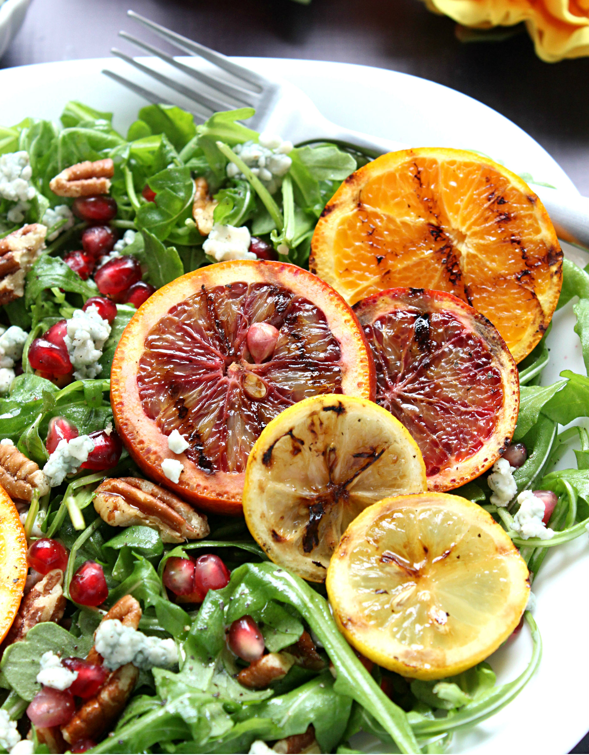 Summer Salad with Citrus, Lavender Dressing | eCurry The Recipe Blog
