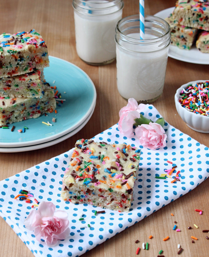 One Bowl + 30 Minute Vegan Funfetti Cake Bars