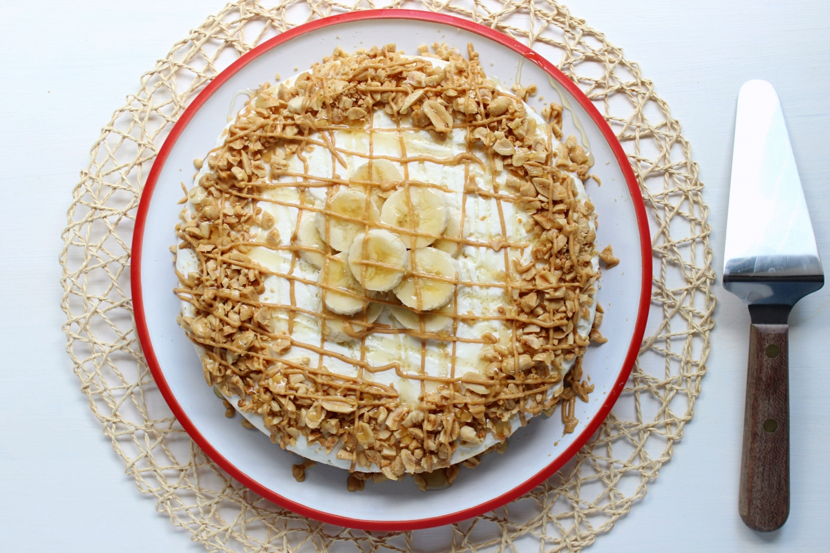 Frozen Peanut Butter Banana Cream Pie