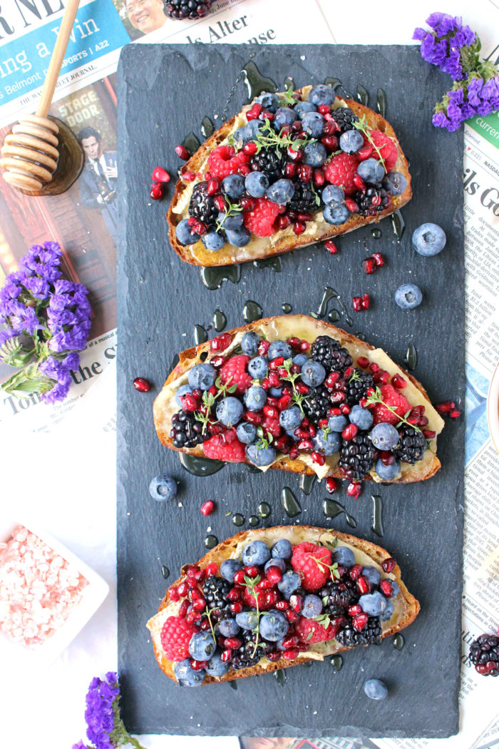 10-Minute Brie & Berry Toasts