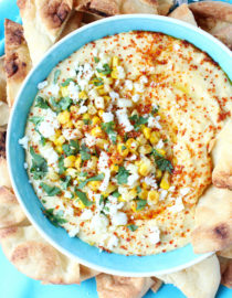 Elote-Inspired Sweet Corn Hummus