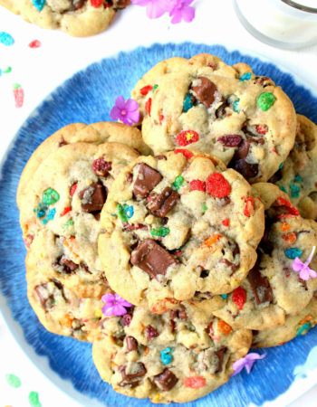 One Bowl Fruity Pebbles Chocolate Chunk Cookies