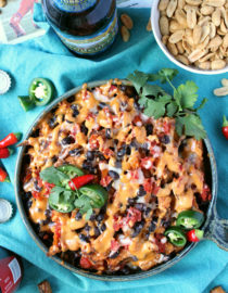 Baked Chipotle Queso Sweet Potato Fries