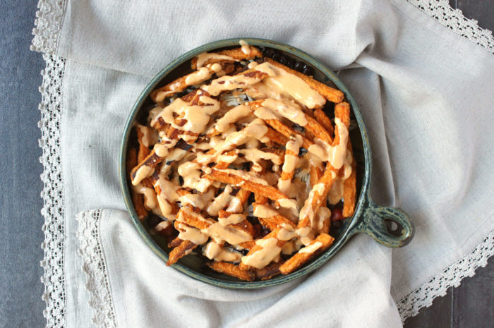 Baked Chipotle Queso Sweet Potato Fries - Wry Toast
