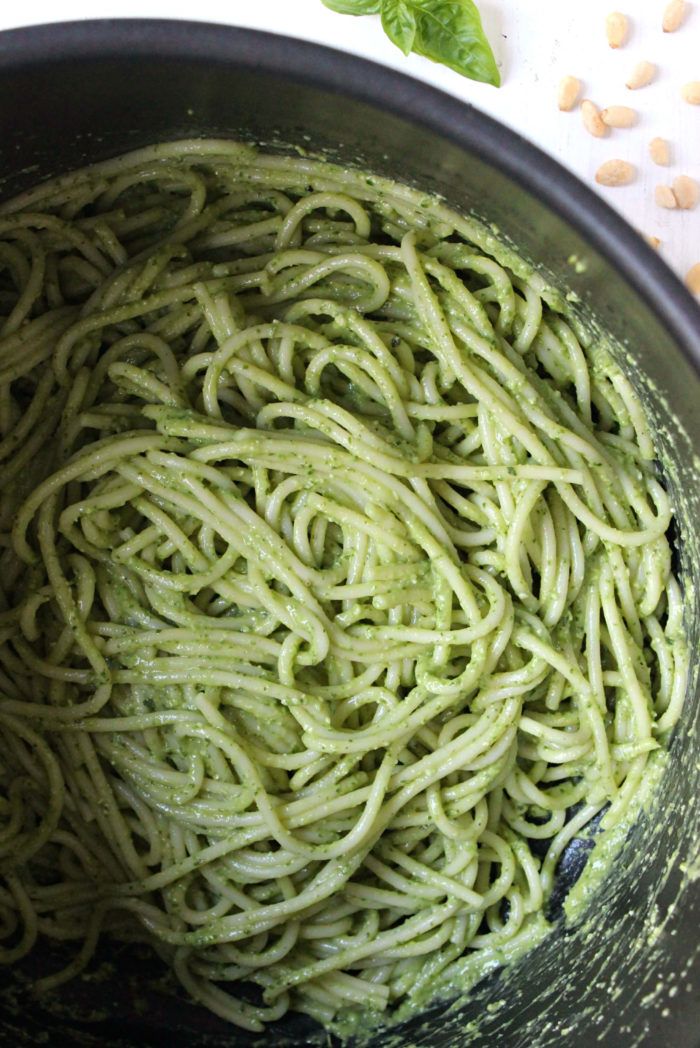 Dinner for Two: 20-Minute Green Goddess Spaghetti