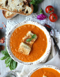 Fire Roasted Tomato Soup, For Two!