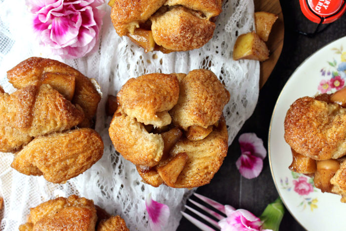 Apple Fritter Monkey Bread Muffins