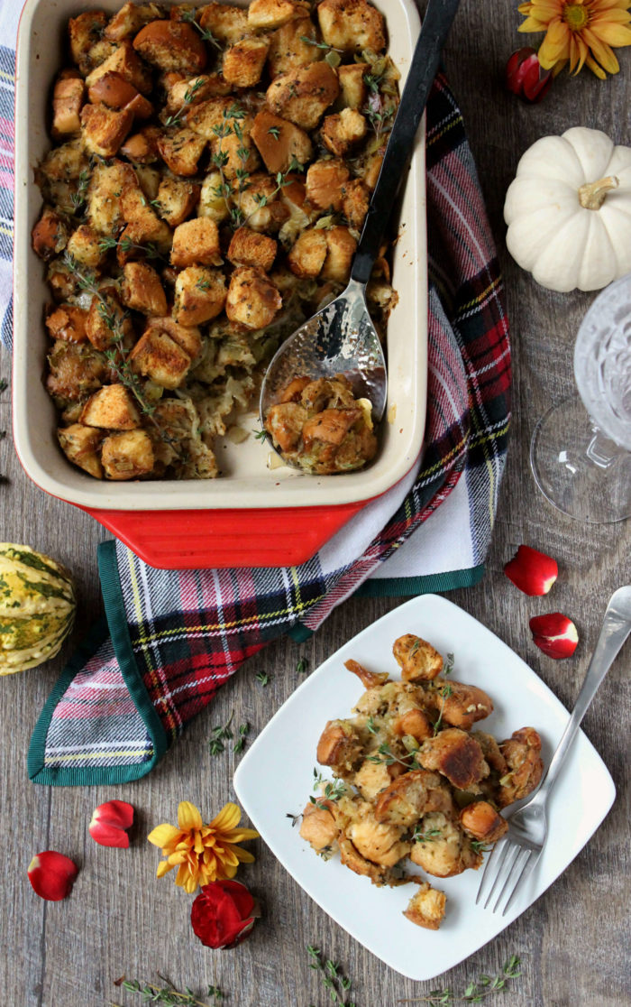 The Best Challah Bread Stuffing