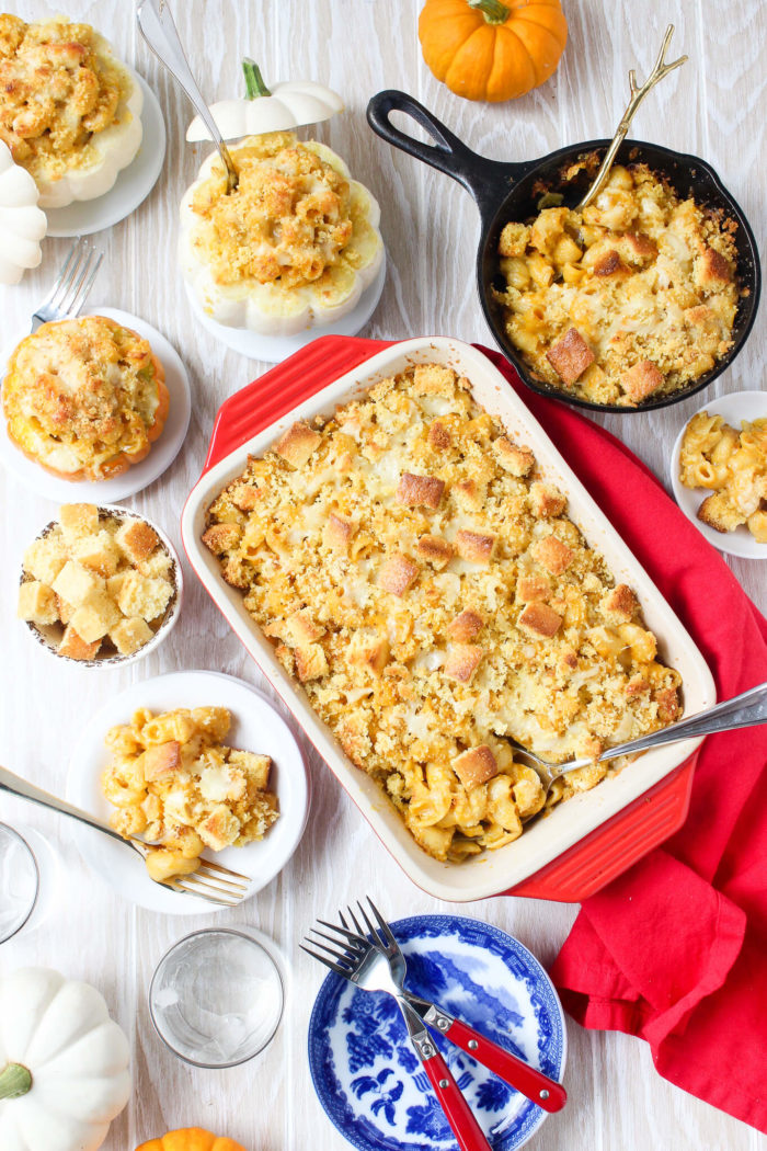 Pumpkin Mac & Cheese w/ Crispy Cornbread Crust - Wry Toast