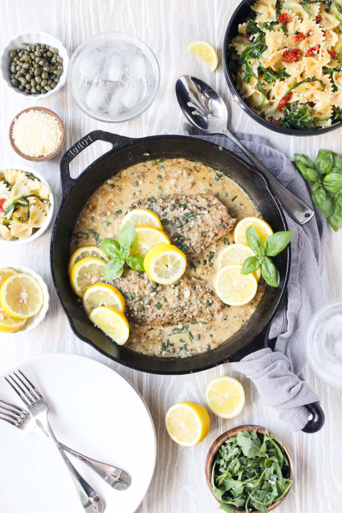One skillet chicken piccata for two wry toast so i decided to make a fall palate cleanser with this one skillet chicken piccata forumfinder Gallery