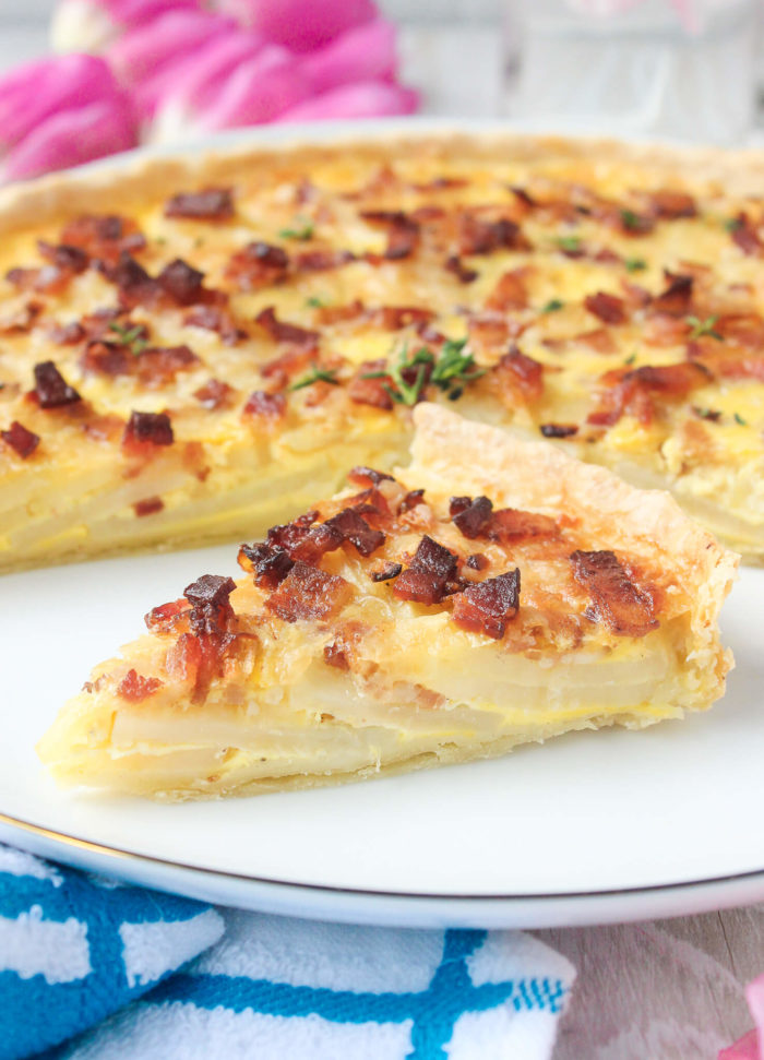 Scalloped potato quiche lorraine wry toast this mixture is clearly the quiche lorraine part of the recipe so if it sounds familiar it is and once youve made it this far thats it forumfinder Choice Image