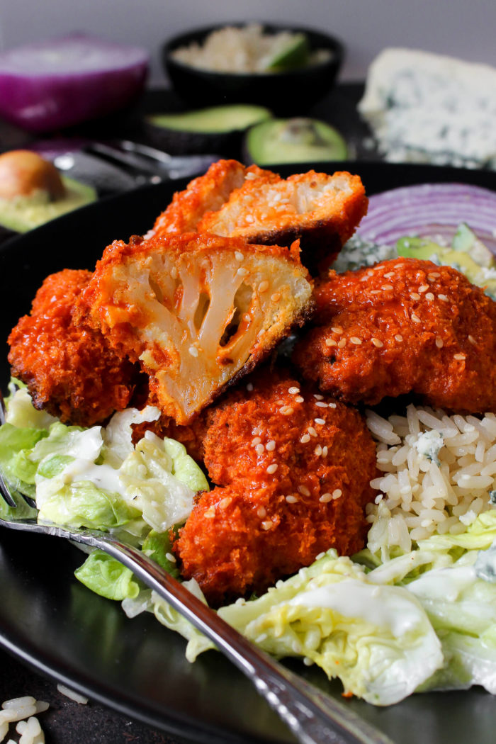 Oven-Fried Buffalo Cauliflower Salad