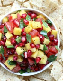 Ridiculously Easy Pomegranate Mango Salsa