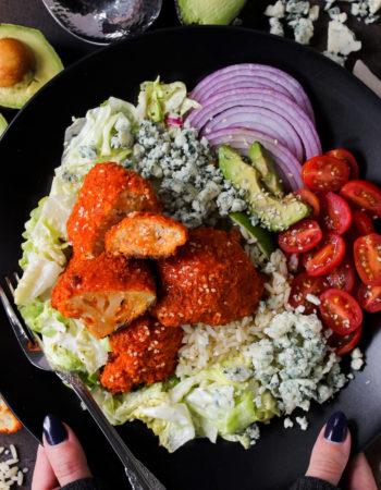 Oven-Fried Buffalo Cauliflower Salad